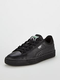 36c5c2dcbb64 Puma Basket Classic LFS Junior Trainers - Black
