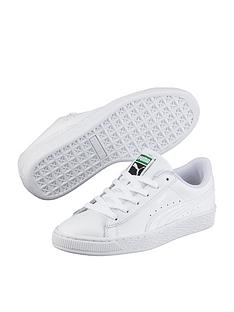 2261b2755d7d48 Puma Basket Classic LFS Junior Trainers - White