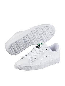 puma-basket-classic-lfs-junior-trainers-white