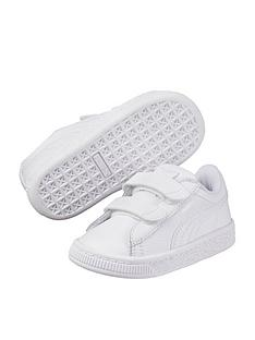 the latest ce9b2 ba93a Puma Basket Classic LFS 2 Straps Infant Trainers - White