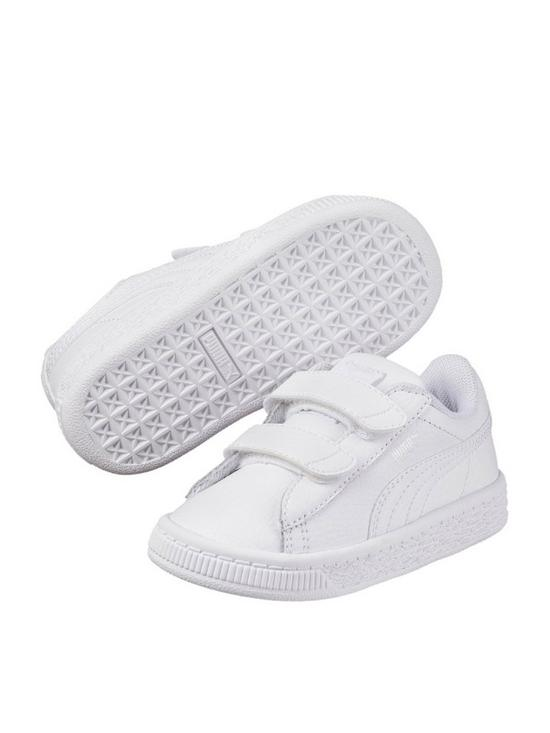 49dcd1992bb9 Puma Basket Classic LFS 2 Straps Infant Trainers - White