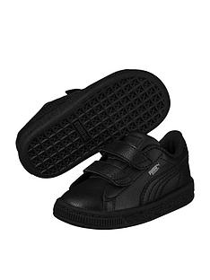 a2a868b7ecd3 Puma Basket Classic LFS 2 straps Infant Trainers - Black