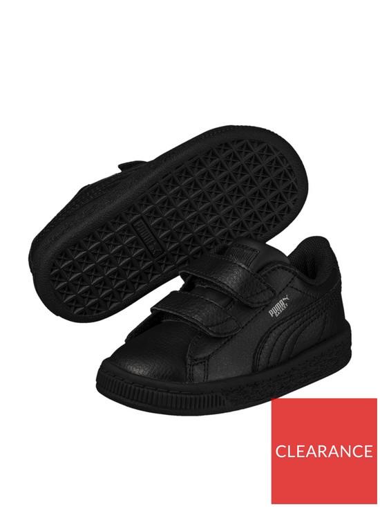 sale retailer 2cddf 8b137 Basket Classic LFS 2 straps Infant Trainers - Black
