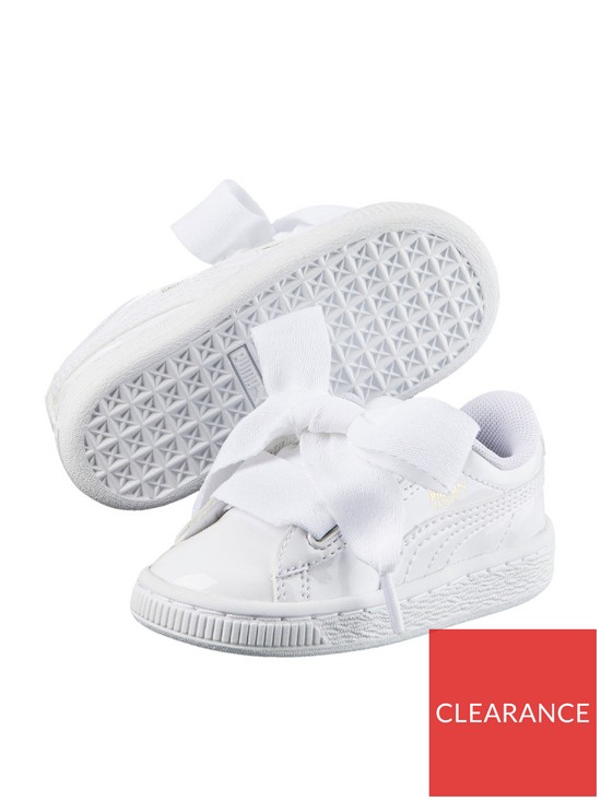 finest selection 72816 26751 Basket Heart Patent Childrens Trainers - White