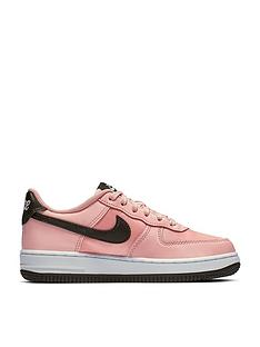 a28acce5a4 Nike Air Force 1 18 Valentines Day Childrens Trainers - Pink/Black