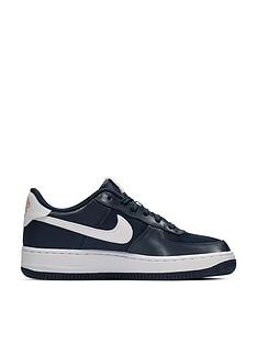 ce74a583fb84d4 Nike Air Force 1 Valentines Day Junior Trainers - Navy Pink