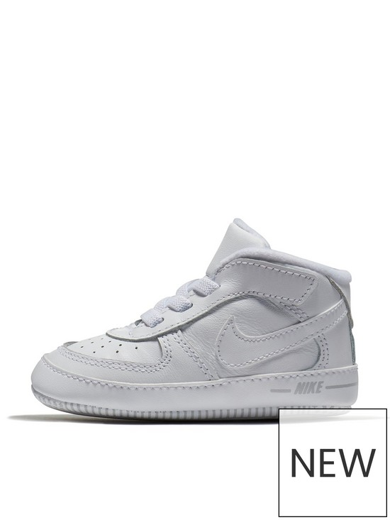 0b4890b216199 Nike Air Force 1 Crib Baby Shoes - White | very.co.uk
