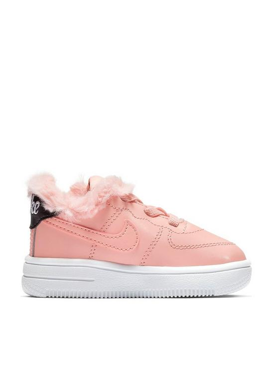 acd55e9b38dc0c Nike Air Force 1 18 Valentines Day Infant Trainers - Pink Black ...
