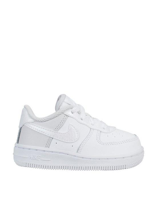 outlet store 17e7b 91687 Nike Air Force 1 Infant Trainers - White Iridescent