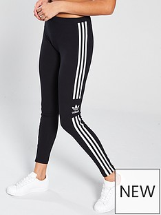 adidas-originals-3-stripe-trefoil-tights-black