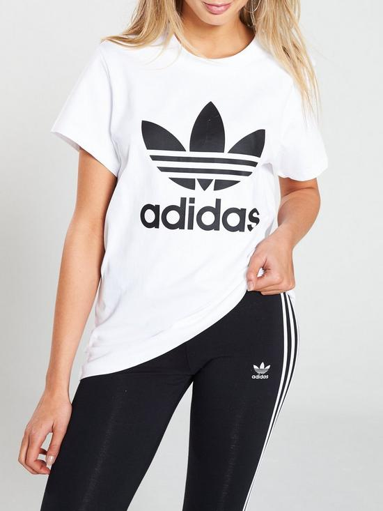 95bd9f70891 adidas Originals Boyfriend Tee - White | very.co.uk