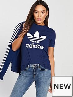 adidas-originals-trefoil-tee-navynbsp