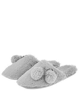 accessorize-furry-mule-slipper-grey