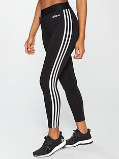 cf55a69880 adidas Essentials 3 Stripe Tight - Black