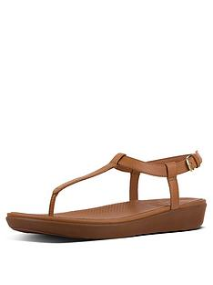 400088e3b2d0 FitFlop Tia Toe - Leather Flip Flop