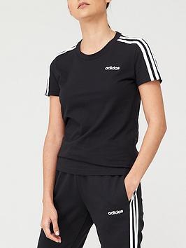 adidas-3-stripe-slim-t-shirt-blacknbsp