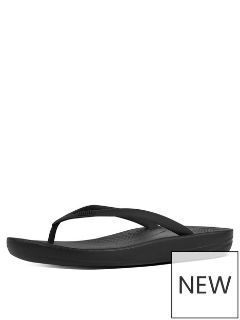 fitflop-iqushion-ergonomic-toe-thong-flip-flop-shoes-black
