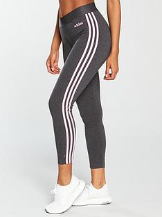 adidas Essentials 3 Stripe Tight - Dark Grey Heather 1ae6e9f4d3