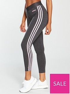 adidas-essentials-3-stripe-tight-dark-grey-heathernbsp