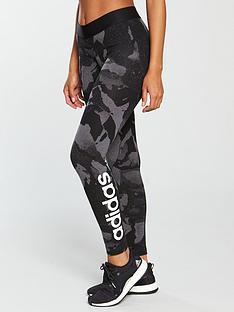 adidas-linear-print-tight-blackgreynbsp