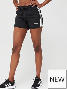adidas-essentials-3-stripe-short-black