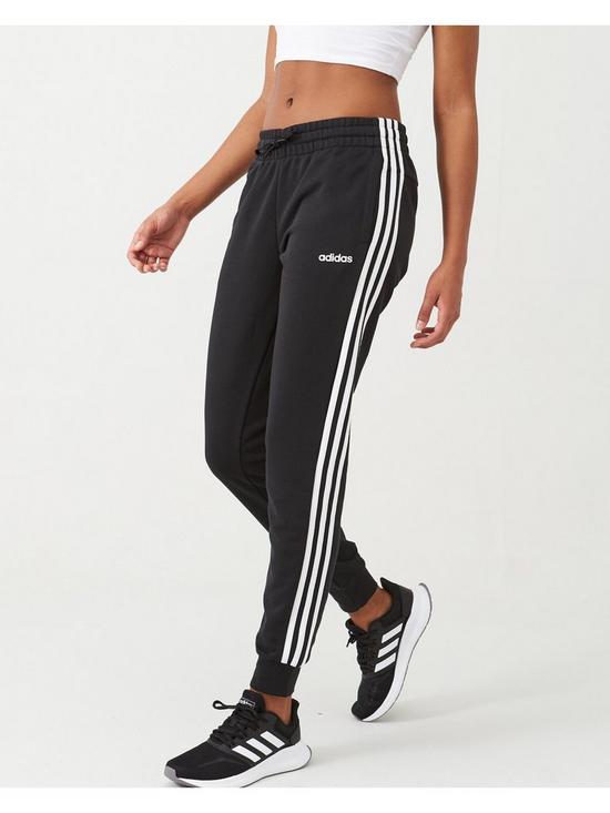 hot sale online b2f9c f6149 adidas Essential 3 Stripe Pant - Black White