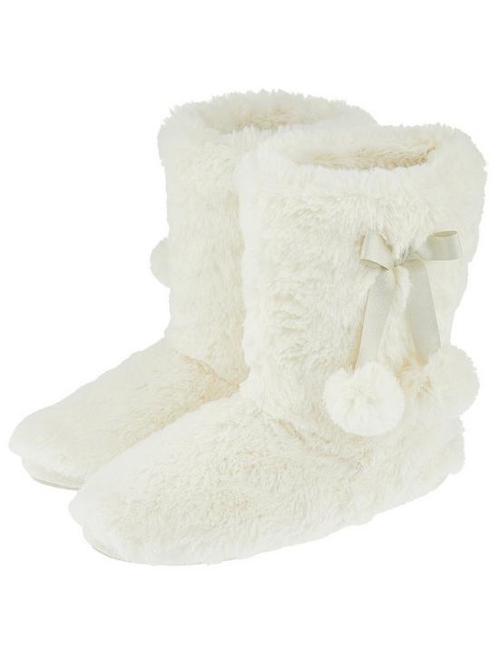 4eae4f3263b Accessorize Supersoft Slipper Boot - Cream