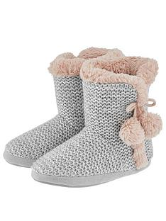 accessorize-sophia-sequin-slipper-boot-grey