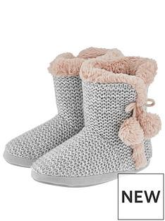 accessorize-sophia-sequin-slipper-boot-grey