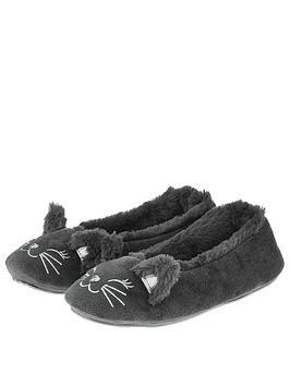 accessorize-kitty-cat-ballerina-slipper-grey