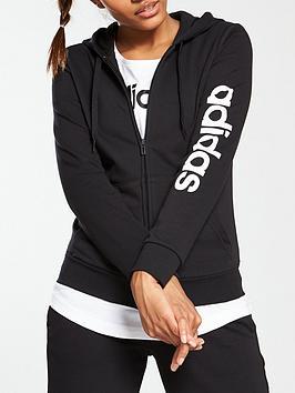 adidas-linear-3-stripe-full-zip-hoodienbsp--blacknbsp