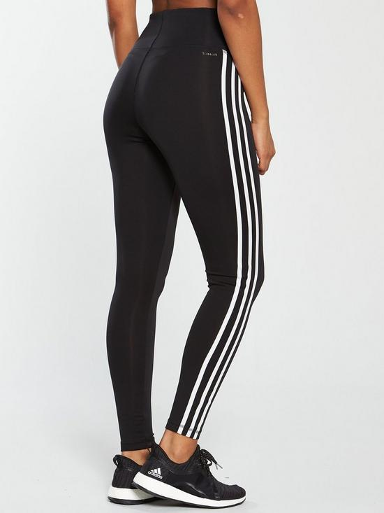 reputable site ae009 a2dd1 ... adidas D2M High Rise 3 Stripe Tight - Black. 8 people are looking at  this right now.