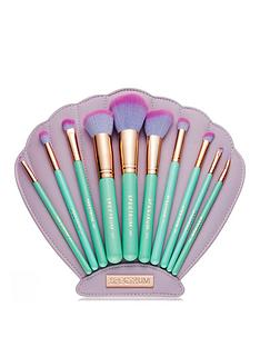 spectrum-spectrum-mermaid-dreams-the-glam-clam-10-piece-make-up-brush-set