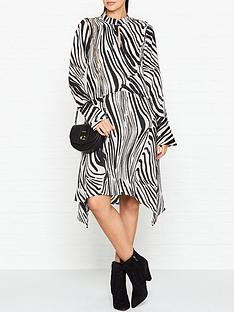 gestuz-siwra-zebra-print-dress-blackwhite