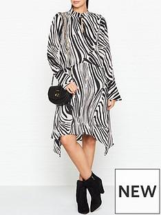 gestuz-siwra-zebra-print-dress-blackwhite