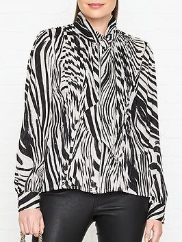 gestuz-siwra-zebra-print-blouse-blackwhite