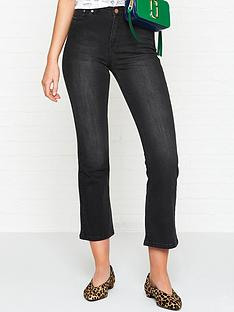 gestuz-emilinda-cropped-flared-jeans-dark-grey