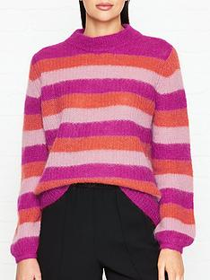 gestuz-holly-stripe-jumper-pink