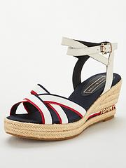 d3e3d6cca3 Tommy Hilfiger Tommy Hilfiger Iconic Elba Corporate Ribbon Wedge Sandal