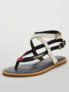 33778a8df6dea Tommy Hilfiger Tommy Hilfiger Iconic Strappy Flat Sandal