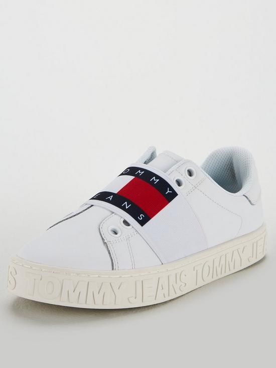 a1bba1b7 Tommy Hilfiger Slip On Logo Cool Trainers - White | very.co.uk
