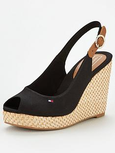 da2861f11f68 Tommy Hilfiger Iconic Elena Sling Back Wedge - Navy Blue
