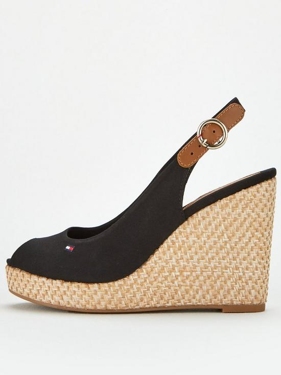 cc53b0d2ebed ... Tommy Hilfiger Iconic Elena Sling Back Wedge - Navy Blue. 4 people have  looked at this in the last couple of hrs.
