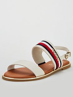 56a06b5ec Tommy Hilfiger Tommy Hilfiger Corporate Ribbon Flat Sandal