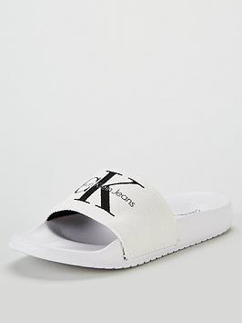 calvin-klein-jeans-chantal-heavy-canvas-sliders-white