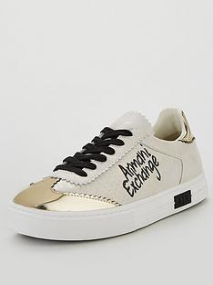 armani-exchange-low-cut-trainers-gold