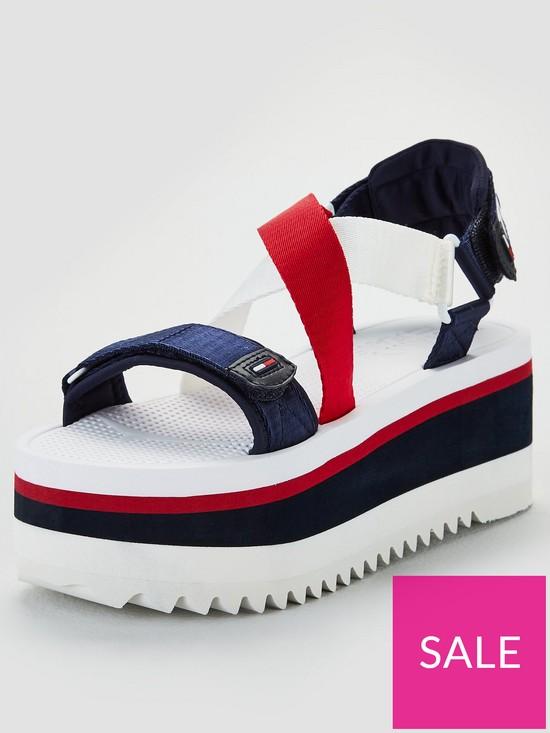 a140b39bd6 Tommy Hilfiger Neoprene Sporty Flatform Sandals - Multi | very.co.uk