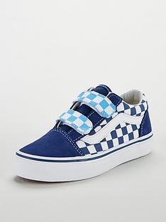 9b06abead5 Vans Vans Checkerboard Old Skool Velcro Junior Trainer