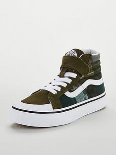 ab1685019b8a Vans Sk8-Hi Camo Reissue 138 Junior Trainers - Green White