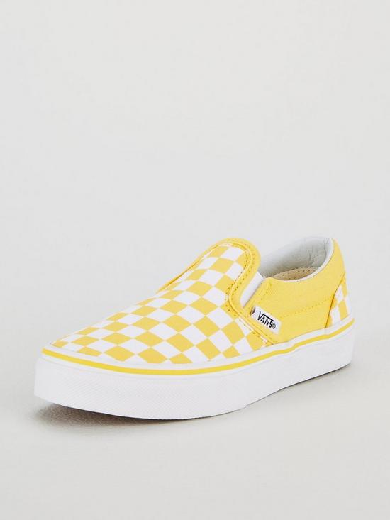 dec9ad6800 Vans Vans Checkerboard Classic Slip-On Junior Trainer